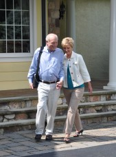 Man with Inogen Portable Oxygen Concentrator Walking with Woman
