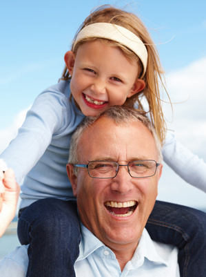 Older Man and Child Laughing
