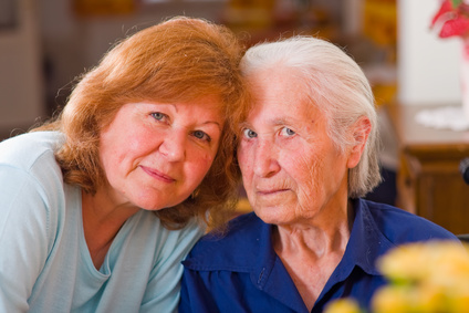 Caregiver with a family member