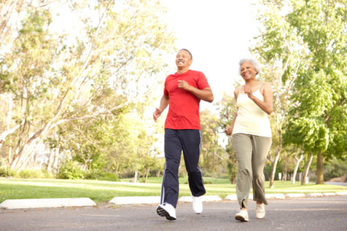 Senior Couple Jogging