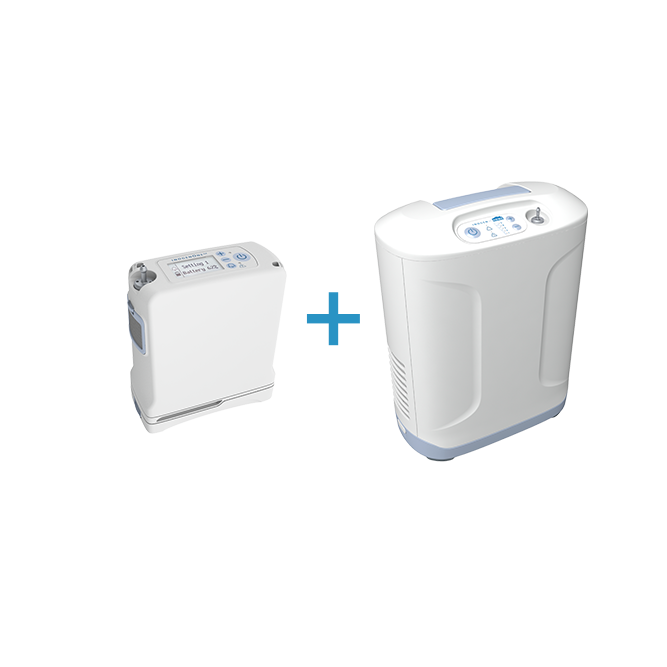 Inogen One G4 and At Home Oxygen Concentrator - Freedom Bundle